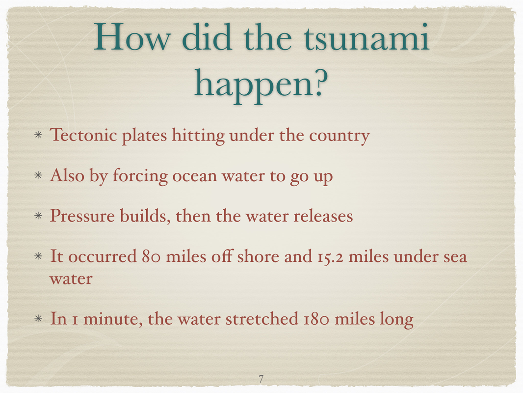 language arts 6 this is a project that we had to do on a natural disaster i chose tho do it on tsunamis we also had to information on a specific tsunami or what